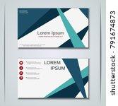 modern business visiting card ... | Shutterstock .eps vector #791674873