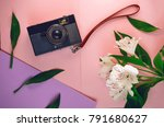 camera for travel and...   Shutterstock . vector #791680627