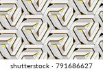 architectural tiles wall white... | Shutterstock . vector #791686627