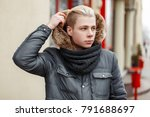 handsome fashionable young man... | Shutterstock . vector #791688697