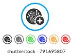 iota create rounded icon. style ... | Shutterstock .eps vector #791695807