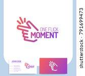 fingers snap clicking line... | Shutterstock .eps vector #791699473