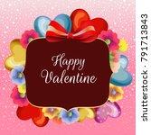 colored blossom valentine snow... | Shutterstock .eps vector #791713843