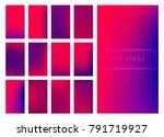 set of soft color gradients...