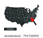 usa vector map | Shutterstock .eps vector #791720593