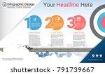 business infographics report ... | Shutterstock .eps vector #791739667