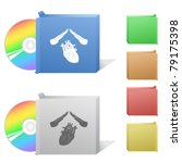 heart protect. box with compact ... | Shutterstock .eps vector #79175398