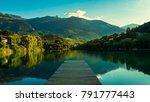 calm lake in switzerland | Shutterstock . vector #791777443