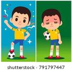 vector illustration of football ...   Shutterstock .eps vector #791797447