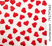 love hearts on a wall paper... | Shutterstock . vector #791797663