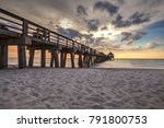 naples pier on the beach at... | Shutterstock . vector #791800753