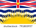 simple flag of british columbia ... | Shutterstock .eps vector #791803957