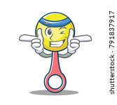 wink rattle toy character... | Shutterstock .eps vector #791837917