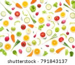 wallpaper abstract composition... | Shutterstock . vector #791843137