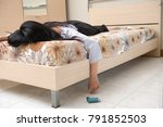 a depressed woman try to...   Shutterstock . vector #791852503