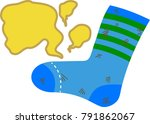 dirty smelly son's socks. this... | Shutterstock .eps vector #791862067