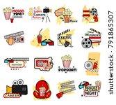 vector illustration of film and ... | Shutterstock .eps vector #791865307