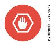 stop block sign