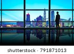 back view of thoughtful... | Shutterstock . vector #791871013
