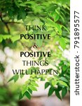 inspirational quote on blurred... | Shutterstock . vector #791895577