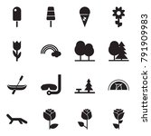 solid black vector icon set  ... | Shutterstock .eps vector #791909983