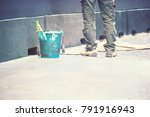 construction worker on the... | Shutterstock . vector #791916943