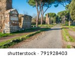 the ancient appian way  appia... | Shutterstock . vector #791928403