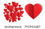 valentines day design with... | Shutterstock . vector #791941687