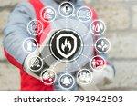 industrial smart automatic fire ... | Shutterstock . vector #791942503