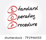 sop   standard operating... | Shutterstock .eps vector #791946433