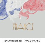 flag of france made with... | Shutterstock .eps vector #791949757