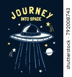 journey into space slogan... | Shutterstock .eps vector #792008743