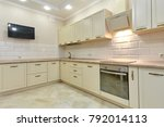 kitchen with appliances and a... | Shutterstock . vector #792014113