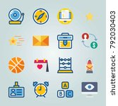 icon set about education and...   Shutterstock .eps vector #792030403