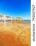 panorama of ein bokek with...   Shutterstock . vector #792037927