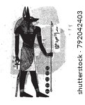 anubis egyptian god line...