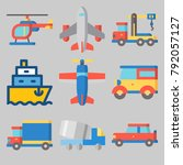 icons set about transport | Shutterstock .eps vector #792057127