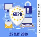 gdpr. general data protection... | Shutterstock .eps vector #792061393