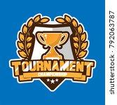 tournament trophy logo  | Shutterstock .eps vector #792063787
