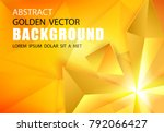 abstract triangle background.... | Shutterstock .eps vector #792066427