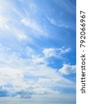 blue sky and white clouds... | Shutterstock . vector #792066967