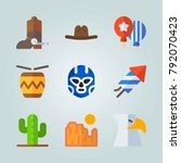 icon set about united states.... | Shutterstock .eps vector #792070423