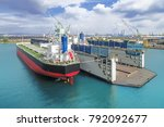 container ship park repair... | Shutterstock . vector #792092677