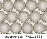 seamless round engraving pattern | Shutterstock .eps vector #792119833