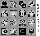 customer service vector icon... | Shutterstock .eps vector #792129457