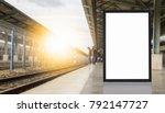 blank billboard posters at... | Shutterstock . vector #792147727