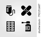 medical vector icons set. drop... | Shutterstock .eps vector #792151687