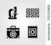 medical vector icons set. band  ... | Shutterstock .eps vector #792152803