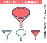 the funnel filter.  flat and...   Shutterstock .eps vector #792167623