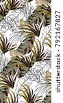 tropical vintage pattern with... | Shutterstock .eps vector #792167827